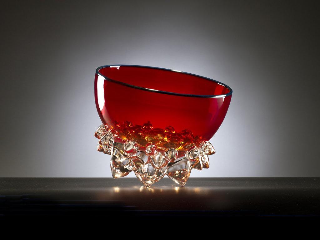 "9"" Cherry Red Thorn Vessel"